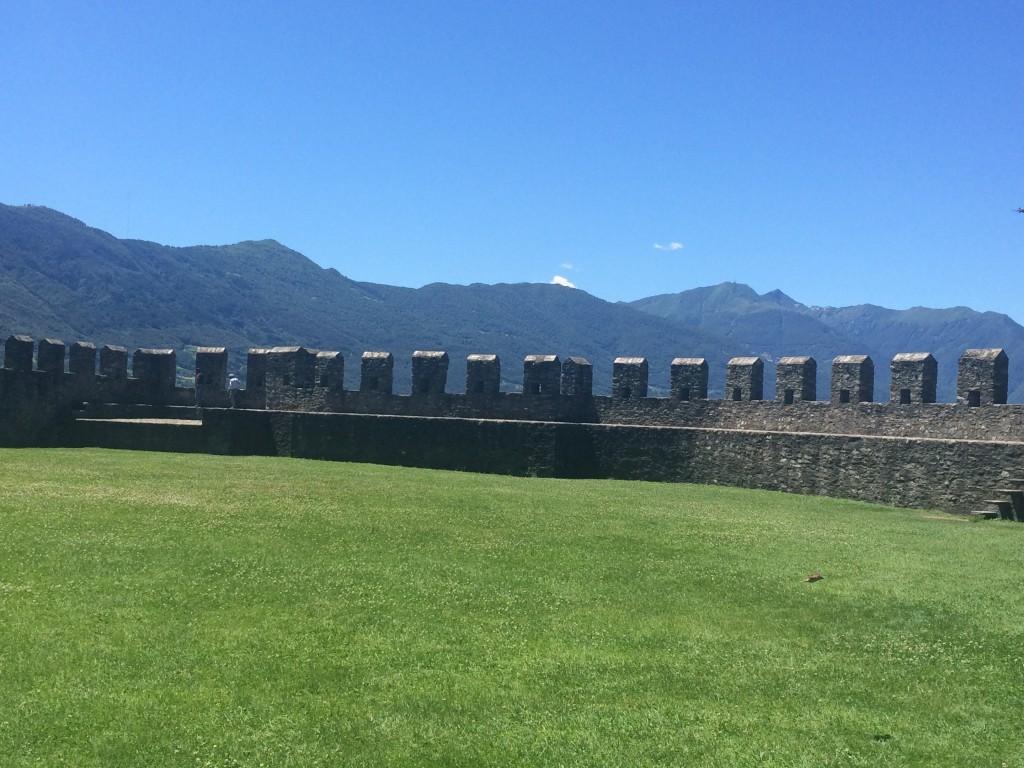 Castle Grande - City wall  - Castles of Bellinzona